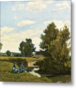 An Afternoon Along The Loing Near Saint-prive Metal Print