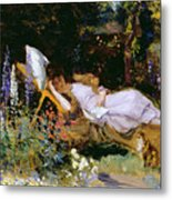 An Afternoon Nap Metal Print by Harry Mitten Wilson