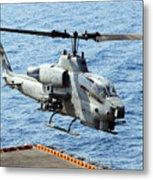 An Ah-1w Super Cobra Helicopter Metal Print