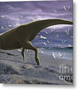 An Albino Carnotaurus Surprising Metal Print