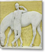 An Amazon Watering Her Horse, Rome Metal Print