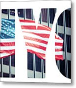 An American Flag In New York. Metal Print