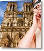 An American In Paris Notre Dame Metal Print