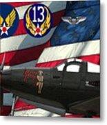 An American P-63 Pof Metal Print