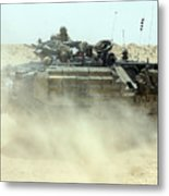 An Amphibious Assault Vehicle Kicks Metal Print