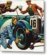 An Aston Martin Racing Car, Vintage 1932 Metal Print