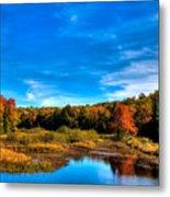 An Autumn Day At The Green Bridge Metal Print