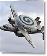 An E-2c Hawkeye Performs A Fly-by Metal Print