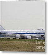 An E-4 Advanced Airborne Command Post Metal Print