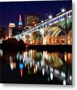 An Early Evening In Cleveland Metal Print