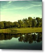 An Evening At Broemmelsiek Park Metal Print