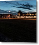 An Evening At The Train Station Metal Print