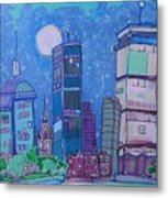 An Evening In Boston Metal Print by Jess Lawrence
