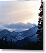 An Evening In The Mountains Metal Print
