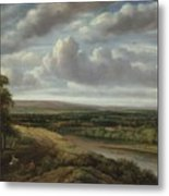 An Extensive Wooded Landscape Metal Print