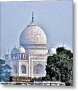 An Extraordinary View - The Taj Mahal Metal Print