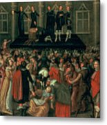 An Eyewitness Representation Of The Execution Of King Charles I Metal Print
