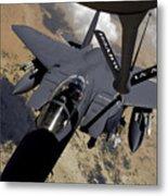 An F-15 Strike Eagle Prepares Metal Print