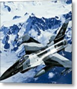 An F-15c Falcon From The 18th Aggressor Metal Print