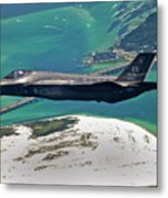 An F-35 Lightning II Flies Over Destin Metal Print