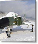 An F-4d Phantom II Aircraft Static Metal Print