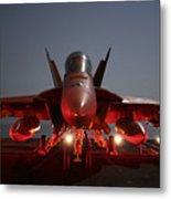 An Fa-18f Super Hornet Parked Metal Print