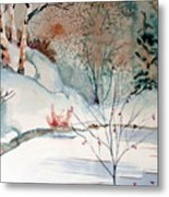 An Icy Winter Metal Print by Mindy Newman