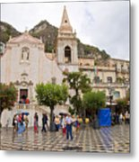 An Iffy Day In Taormina Metal Print