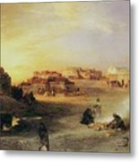An Indian Pueblo Metal Print by Thomas Moran