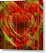 An Inimitable Heart Metal Print