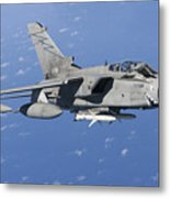 An Italian Air Force Tornado Ids Armed Metal Print