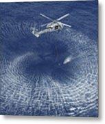 An Mh-60s Knight Hawk Prepares Metal Print by Stocktrek Images