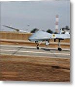 An Mq-1c Sky Warrior Uav Lands At Camp Metal Print by Stocktrek Images