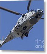 An Nh90 Helicopter Of The French Navy Metal Print
