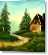 An Old Cabin In The Wild Metal Print