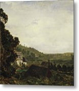 An Old Chapel In A Valley Metal Print