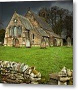 An Old Church Under A Dark Sky Metal Print
