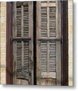 An Old Door In Neve Tzedek Tel Aviv Metal Print