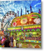 An Old Fashioned Midway Metal Print