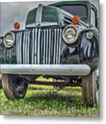 An Old Green Ford Truck Metal Print
