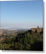 An Old House In The Tuscany Hills Metal Print