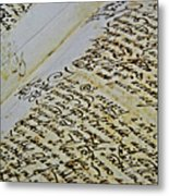 An Old Manuscript Metal Print