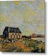 An Old Scottish Cottage Overlooking A Loch  L B Metal Print