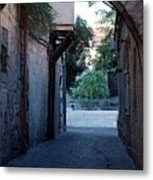 An Old Street In Jerusaem Metal Print