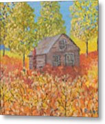 An Old Abandoned Tenant House Metal Print