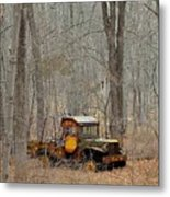 An Old Truck In The Woods. Metal Print