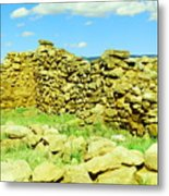An Old Wall At The Pecos Ruins Metal Print