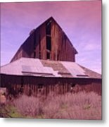 An Old Weathered Barn  Metal Print