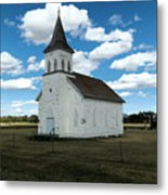 An Old Wooden Church Metal Print