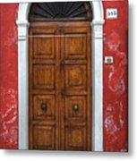 an old wooden door in Italy Metal Print